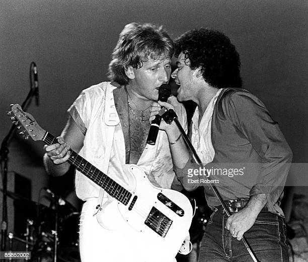 UNITED STATES JANUARY 01 Photo of Russell HITCHCOCK and Graham RUSSELL and AIR SUPPLY Graham Russell and Russell Hitchcock performing on stage