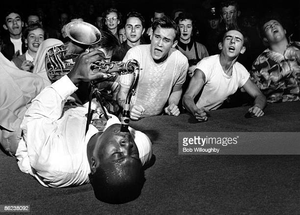Photo of SAXOPHONE and Big Jay McNEELY and CROWDS and AUDIENCE