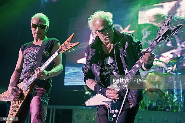 APOLLO Photo of SCORPIONS and Rudolf SCHENKER and Michael SCHENKER LR Rudolf and Michael Schenker performing on stage