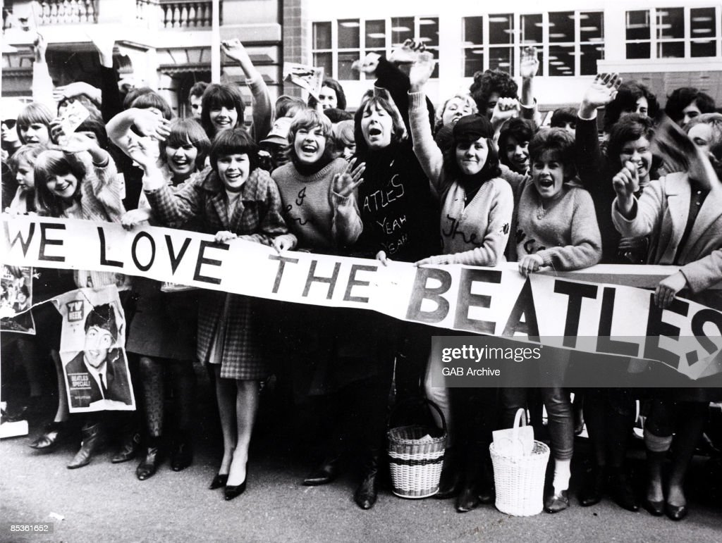Photo of SCREAMING FANS and BEATLES FANS and BEATLES and ...