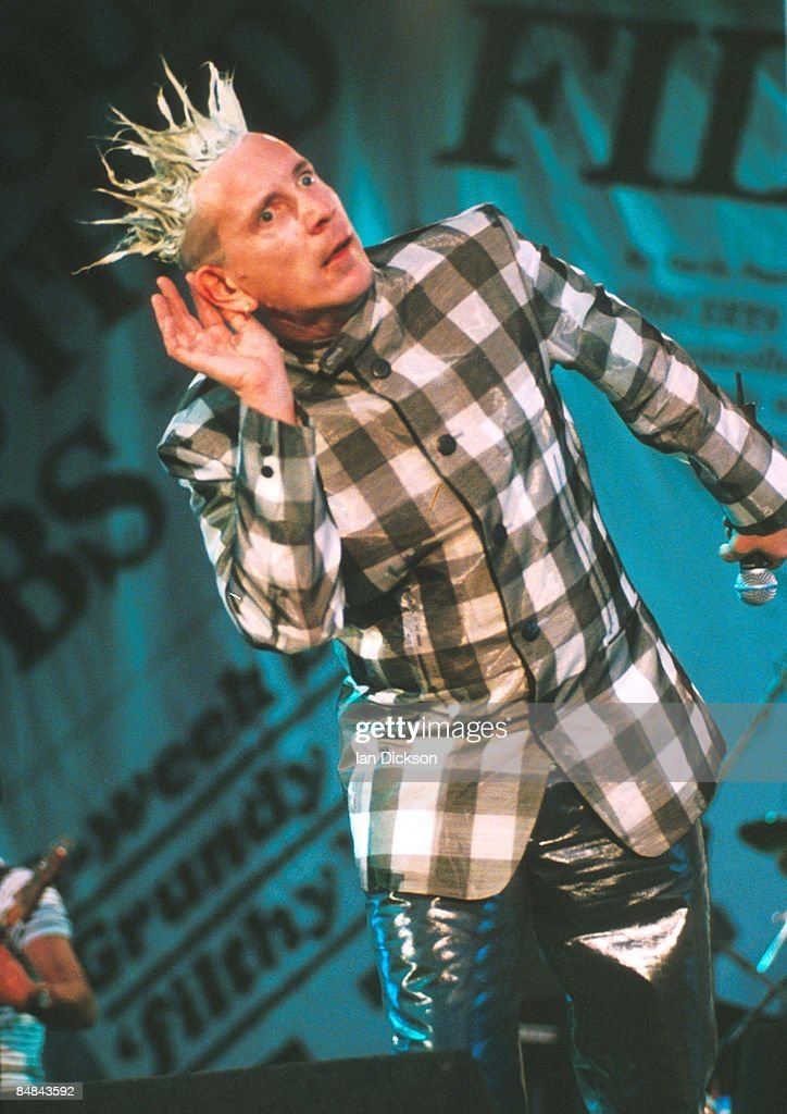PARK Photo of SEX PISTOLS and Johnny ROTTEN, Johnny Rotten (John Lydon) performing live onstage on Filthy Lucre tour