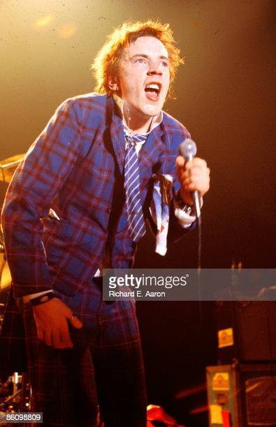 USA Photo of SEX PISTOLS Johnny Rotten performing live onstage at Baton Rouge's Kingfisher Club Louisiana on final tour