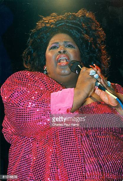 Photo of Shirley Brown at the Sweet Soul Music Festival Porretta Terme Italy 1995