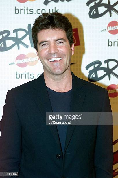 COURT Photo of Simon COWELL BRIT Awards 2002 Earls Cort 2 London 20th February 2002