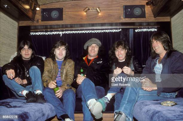 Photo of Simon WRIGHT and Malcolm YOUNG and Cliff WILLIAMS and Angus YOUNG and AC/DC and Brian JOHNSON and AC DC LR Malcolm Young Simon Wright Brian...