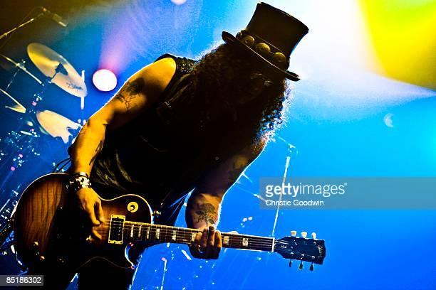 ACADEMY Photo of SLASH and VELVET REVOLVER Slash performing on stage