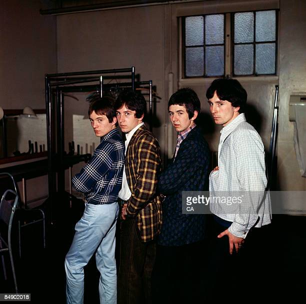 Photo of SMALL FACES and Steve MARRIOTT and Kenney JONES and Ronnie LANE and Jimmy WINSTON; Posed group portrait - L-R Steve Marriott, Kenney Jones,...