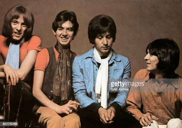 Photo of SMALL FACES; Group portrait - L-R Steve Marriott, Ronnie Lane, Kenney Jones and Ian McLagan