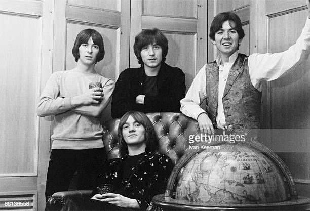Photo of SMALL FACES; L to R: Ian McLagan, Steve Marriott , Kenney Jones, Ronnie Lane - posed, group shot