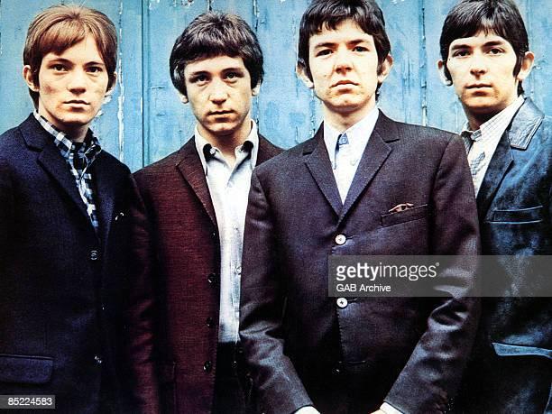 Photo of SMALL FACES; L-R: Steve Marriott, Kenney Jones, Ronnie Lane, Ian McLagan - posed, group shot, c.1965