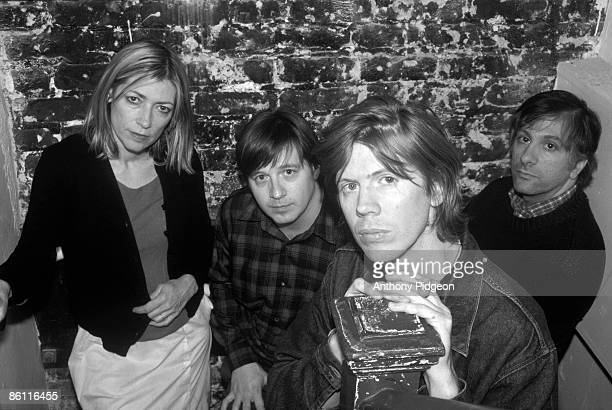 AUDITORIUM Photo of SONIC YOUTH and Kim GORDON and Steve SHELLEY and Thurston MOORE and Lee RANALDO LR Kim Gordon Steve Shelley Thurston Moore Lee...