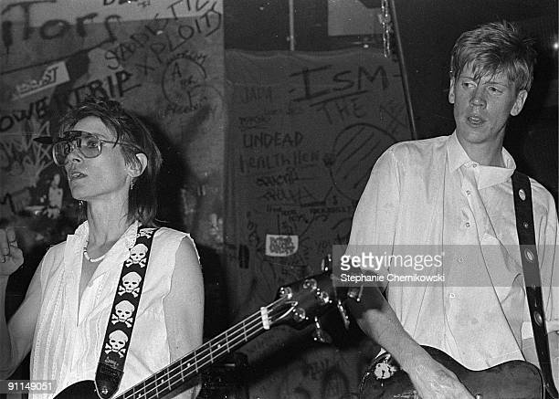 Photo of SONIC YOUTH LR Kim Gordon Thurston Moore