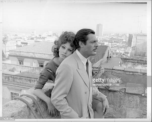 Photo of Sophia Loren and Marcello Mastroianni Photo by Michael Ochs Archives/Getty Images