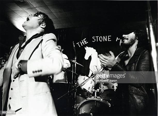 Photo of SOUTHSIDE JOHNNY and Bruce SPRINGSTEEN with Southside Johnny performing live onstage at the Stone Pony