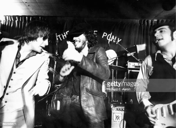 Photo of SOUTHSIDE JOHNNY and Bruce SPRINGSTEEN with Southside Johnny and Steven Van Zandt performing live onstage at the Stone Pony