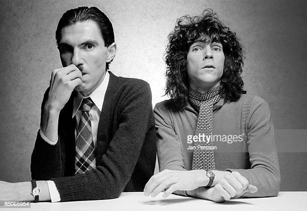 Photo of SPARKS and Ron MAEL and Russell MAEL; L-R: Ron Mael & Russell Mael - posed, studio