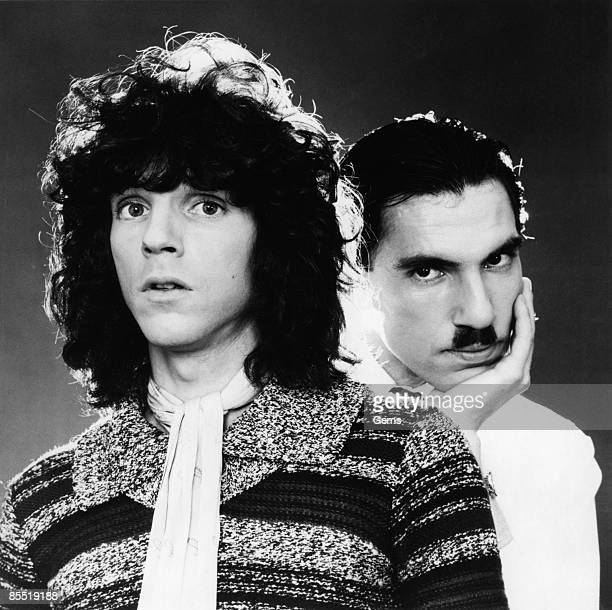 Photo of SPARKS and Russell MAEL and Ron MAEL; Posed group portrait of Russell and Ron Mael