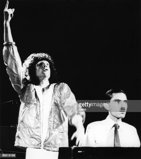 Photo of SPARKS and Russell MAEL and Ron MAEL; Russell and Ron Mael performing on stage
