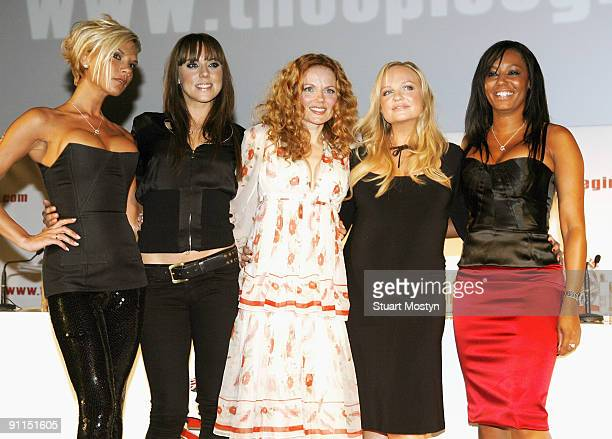 ARENA Photo of SPICE GIRLS and Victoria BECKHAM and Mel C and Geri HALLIWELL and Emma BUNTON and Mel B and Melanie C LR Victoria Beckham Melanie...