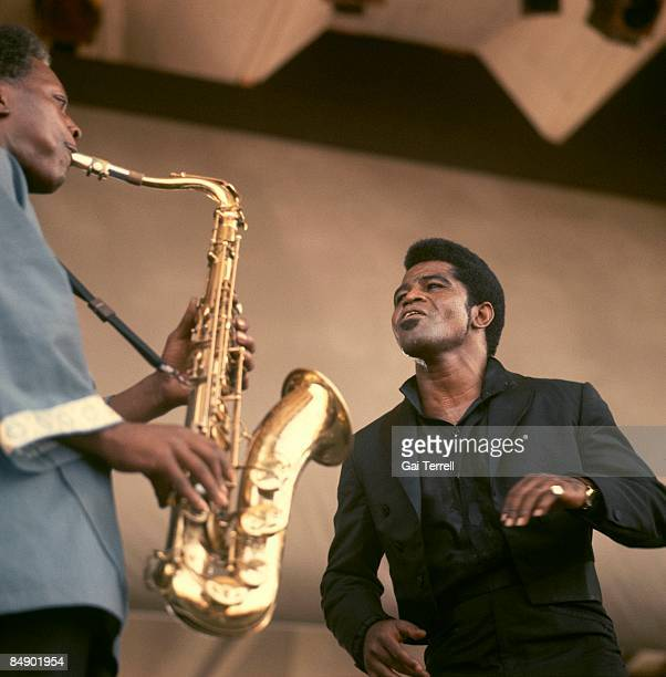 FESTIVAL Photo of St Clair PINCKNEY and James BROWN with St Clair Pinckney performing live onstage