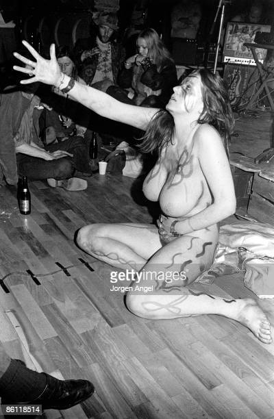 Photo of STACIA; ID#: HawkStaA 18A, Hawkwind's dancer Stacia., Copenhagen, 1972