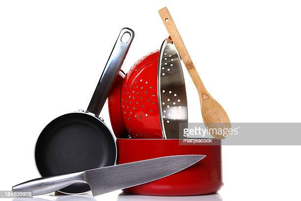 Photo of stacked cooking equipment