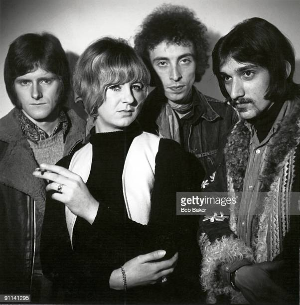 Photo of Stan WEBB and CHICKEN SHACK and Christine McVIE and Christine PERFECT LR Andy Sylvester Christine Perfect Stan Webb Dave Bidwell posed...
