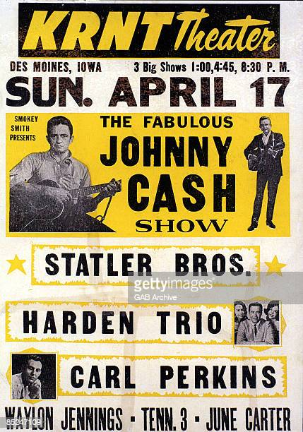USA Photo of STATLER BROTHERS and CONCERT POSTERS and Johnny CASH and Carl PERKINS Johnny Cash