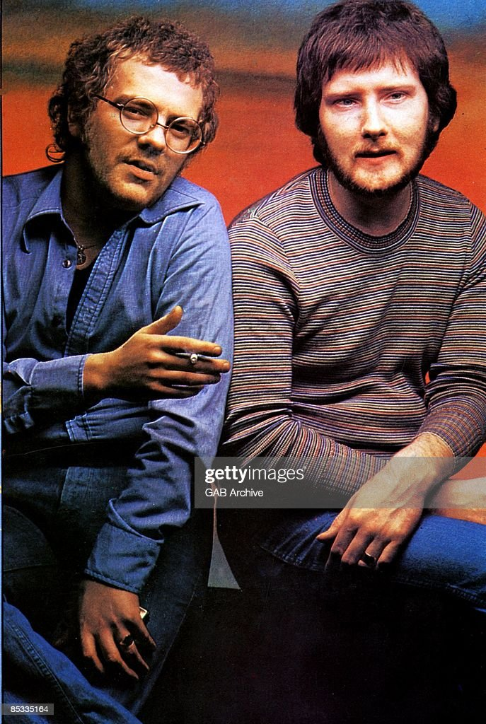 Photo of STEALERS WHEEL and Joe EGAN and Gerry RAFFERTY; Posed portrait of Joe Egan and Gerry Rafferty