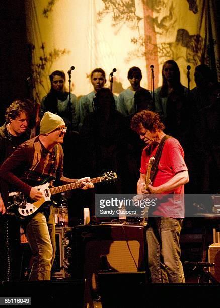 PHILHARMONIE Photo of Steve HUNTER and Lou REED Steve Hunter and Lou Reed performing on stage Berlin Tour