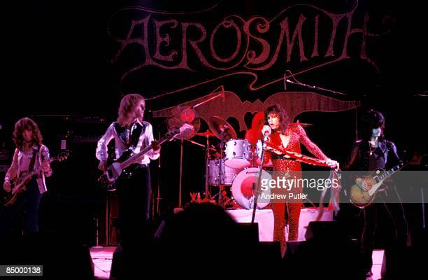 ODEON Photo of Steven TYLER and Tom HAMILTON and AEROSMITH and Brad WHITFORD and Joe PERRY LR Brad Whitford Tom Hamilton Steven Tyler Joe Perry...