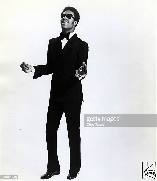 Photo of Stevie WONDER Posed full length studio portrait of Stevie Wonder