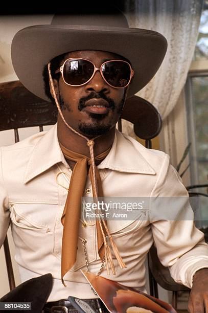 Photo of Stevie WONDER Stevie Wonder promoting Songs In The Key Of Life dressed as cowboy