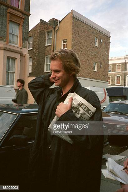STUDIOS Photo of STING and BAND AID Sting arriving at the studios