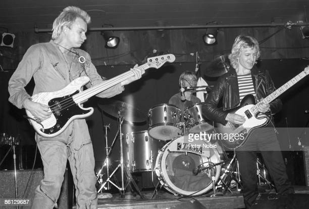 TAVERN Photo of STING and Stewart COPELAND and POLICE and Andy SUMMERS LR Sting Stewart Copeland Andy Summers performing live onstage