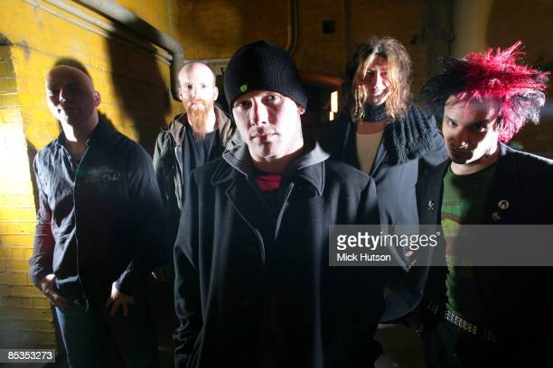Photo of STONE SOUR and Josh RAND and Shawn ECONOMAKI and Corey TAYLOR and Jim ROOT and Roy MAYORGA LR Josh Rand Shawn Economaki Corey Taylor Jim...