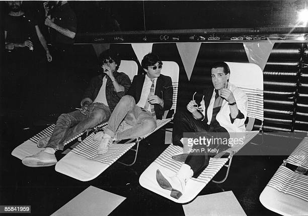 STUDIO 54 Photo of STUDIO 54 club goers on sunbeds in New York circa 1975