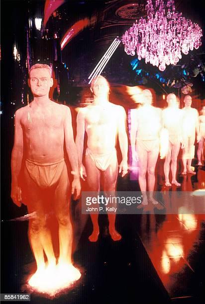 STUDIO 54 Photo of STUDIO 54 living statues posed in the New York club circa 1975