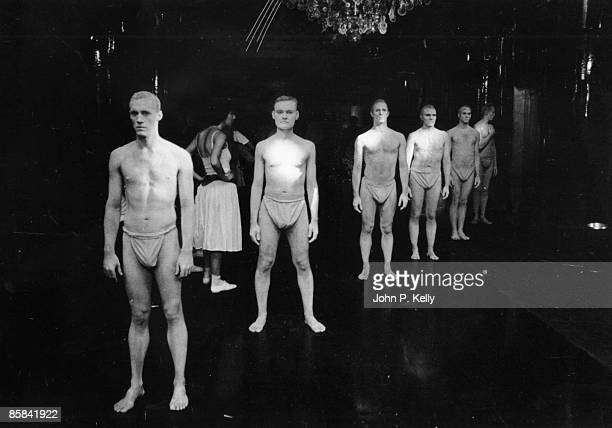 STUDIO 54 Photo of STUDIO 54 living statues posed inside the New York club circa 1975