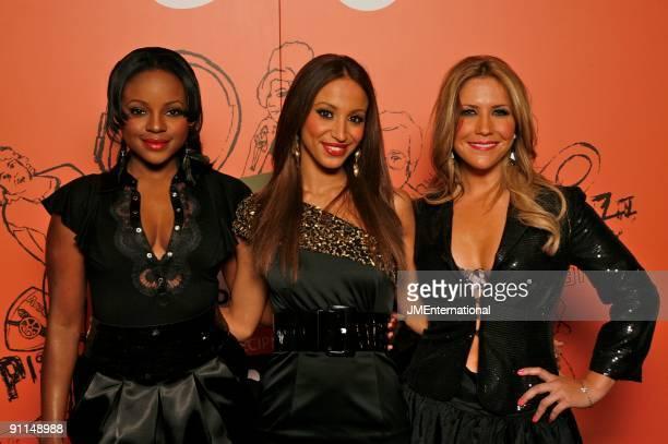 HOTEL Photo of SUGABABES and Amelle BERRABAH and Keisha BUCHANAN and Heidi RANGE LR Keisha Buchanan Amelle Berrabah Heidi Range posed group shot at...