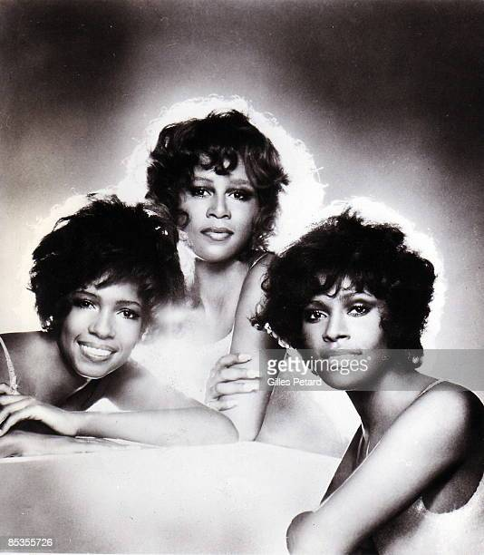 Photo of SUPREMES Posed group portrait LR Mary Wilson Cindy Birdsong and Jean Terrell