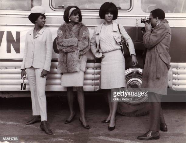 Photo of SUPREMES The Supremes at Le Bouget airport Paris Berry Gordy Jr taking picture Gillles PTtard Collection