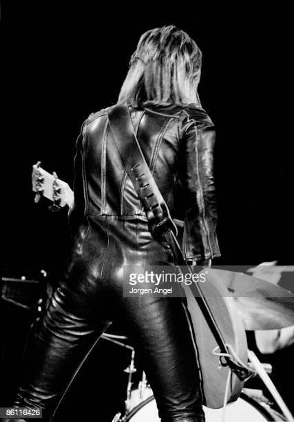 Photo of Suzi QUATRO Suzi Quatro performing live onstage wearing leather jumpsuit
