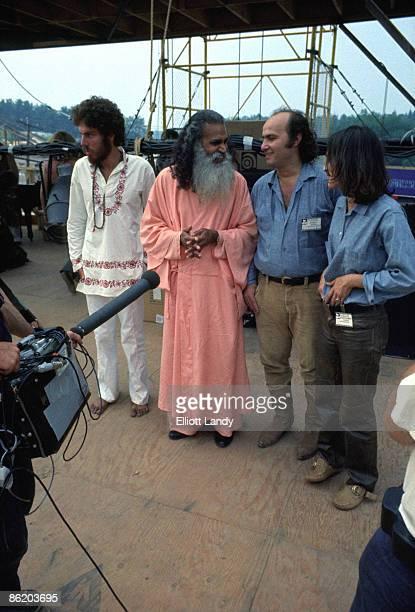 FESTIVAL Photo of Swami SATCHIDINANDA and WOODSTOCK Swami Satchidinanda