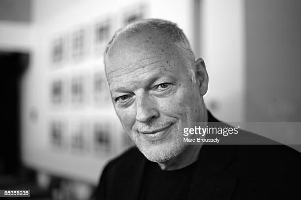 BARBICAN Photo of SYD BARRETT TRIBUTE MADCAP'S L and David GILMOUR David Gilmour posed backstage at Syd Barrett tribute
