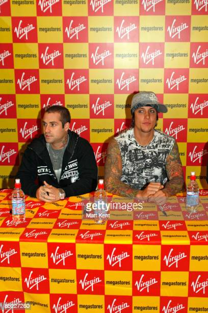 MEGASTORE Photo of Synyster GATES and AVENGED SEVENFOLD LR Johnny Christ and Synyster Gates promote the single 'Almost Easy'