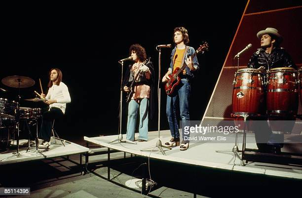 Photo of T REX and Marc BOLAN and Bill LEGEND and Steve CURRIE and Mickey FINN, L-R Bill Legend, Marc Bolan, Steve Currie and Mickey Finn performing...