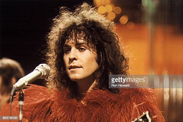 Photo of T REX and Marc BOLAN, Marc Bolan performing on tv show
