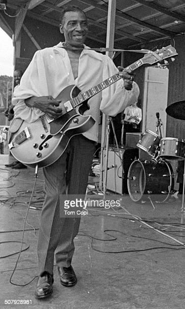 Photo of T-Bone Walker performing in Ann Arbor, Michigan. Circa 1969