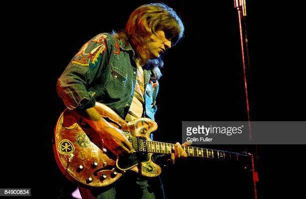 Photo of TEN YEARS AFTER and Alvin LEE Alvin Lee performing live onstage playing Gibson ES335 guitar
